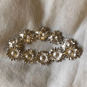 Jewelry - silver sunflower bracelet